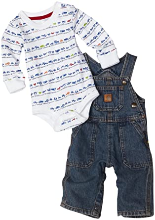 d2e1bb74f Amazon.com: Carhartt Baby Boys' Bib Overall Set: Infant And Toddler  Overalls: Clothing