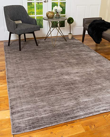 Natural Area Rugs Hand Loomed Manning Light Grey Contemporary Rug 8' x 10'