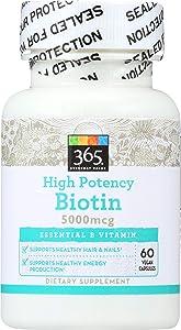 365 Everyday Value, High Potency Biotin 5000mcg, 60 ct