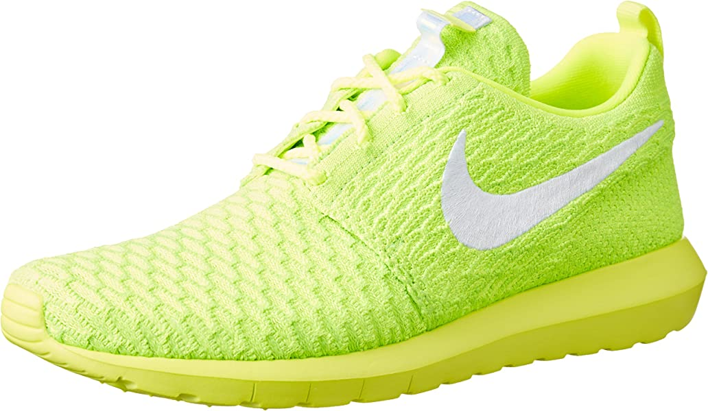huge discount e8ad3 43dfe Nike Roshe nm Flyknit, Men s Running Shoes, Yellow (Volt White-Electric