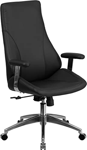 Flash Furniture High Back Black LeatherSoft Smooth Upholstered Executive Swivel Office Chair