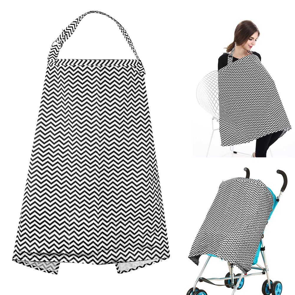 Accmor Nursing Cover Breastfeeding Cover, Multi-use Breathable Cotton Flax Breastfeeding Cover Ups Nursing Apron, Full Coverage, Rigid Neckline, Covers Up Newborns in Public by accmor (Image #1)