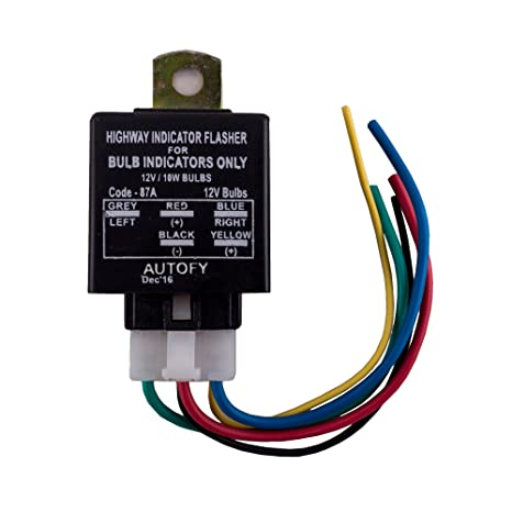 attach a yellow wire to the wire that goes to your left indicatorautofy universal highway bulb indicator flasher for bulb indicators attach a yellow wire to the wire that goes to your left indicator bulb