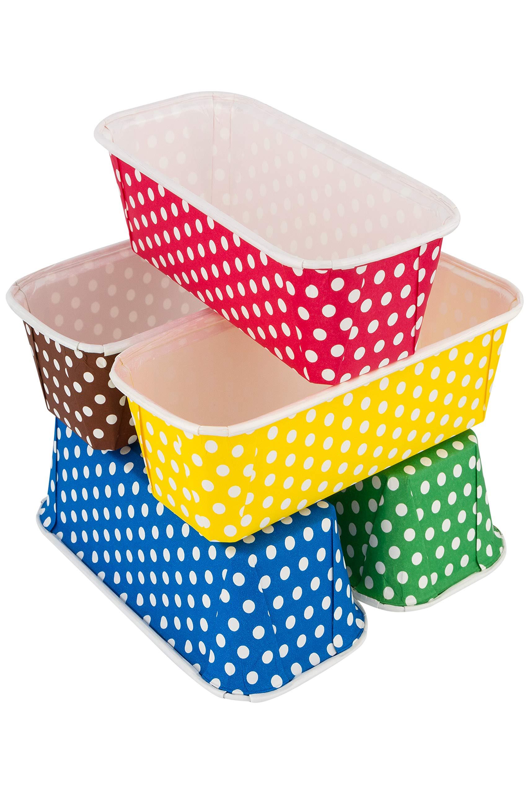Paper Loaf Pans for Baking, 25 Loaf Pan Liners, 7x3x2 Mini Pie Pans, Brown Tart Pan Color by PETANI by PETANI