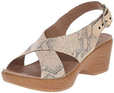 bcf8c326aeae Dansko Women s Jacinda Taupe Snake Wedge Sandal