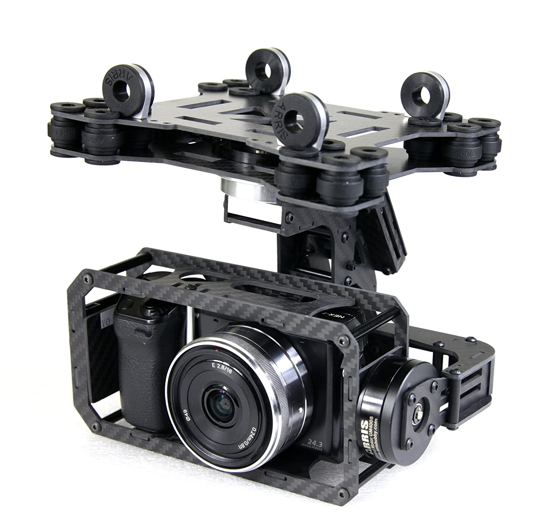 ARRIS(アリス) ARRIS Zhaoyunプロ360度無制限に回転できる3軸ブラシレスジンバル32ビット版FPV空撮航空撮影ミラーレス用カメラマウント雲台 B00QA9CYTK