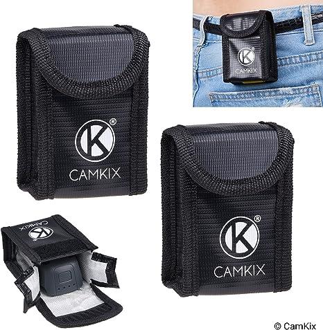para 2 bater/ías 2X Cubierta de Puerto de bater/ía Incluye: Bolsa de Seguridad LiPo Camkix/® Paquete de Seguridad de Viaje Compatible con dji Mavic Pro//Platinum