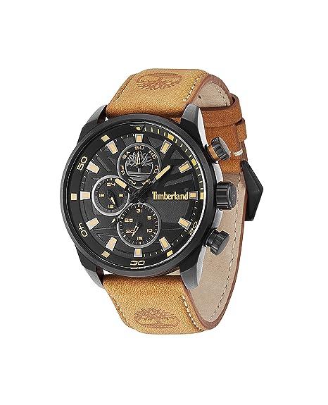 Timberland Watch Reloj Analógico para Hombre de Cuarzo con Correa en Cuero TBL.14441JLB/