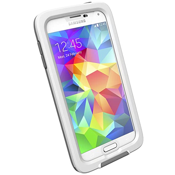 quality design 818a8 508f7 Lifeproof FRĒ Case for Galaxy S5 - Retail Packaging - White/Clear/Gray