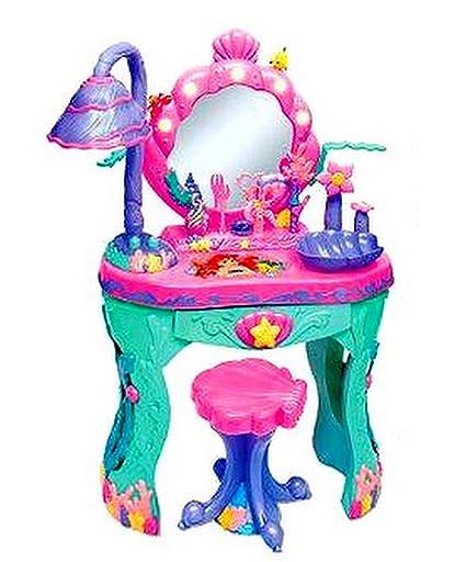 Amazon disney princess ariel little mermaid magical talking disney princess ariel little mermaid magical talking salon vanity watchthetrailerfo