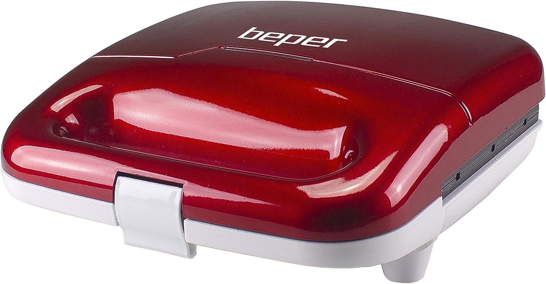 ABS Beper P101CUD100 Piastra per Waffle a stecco Rosso