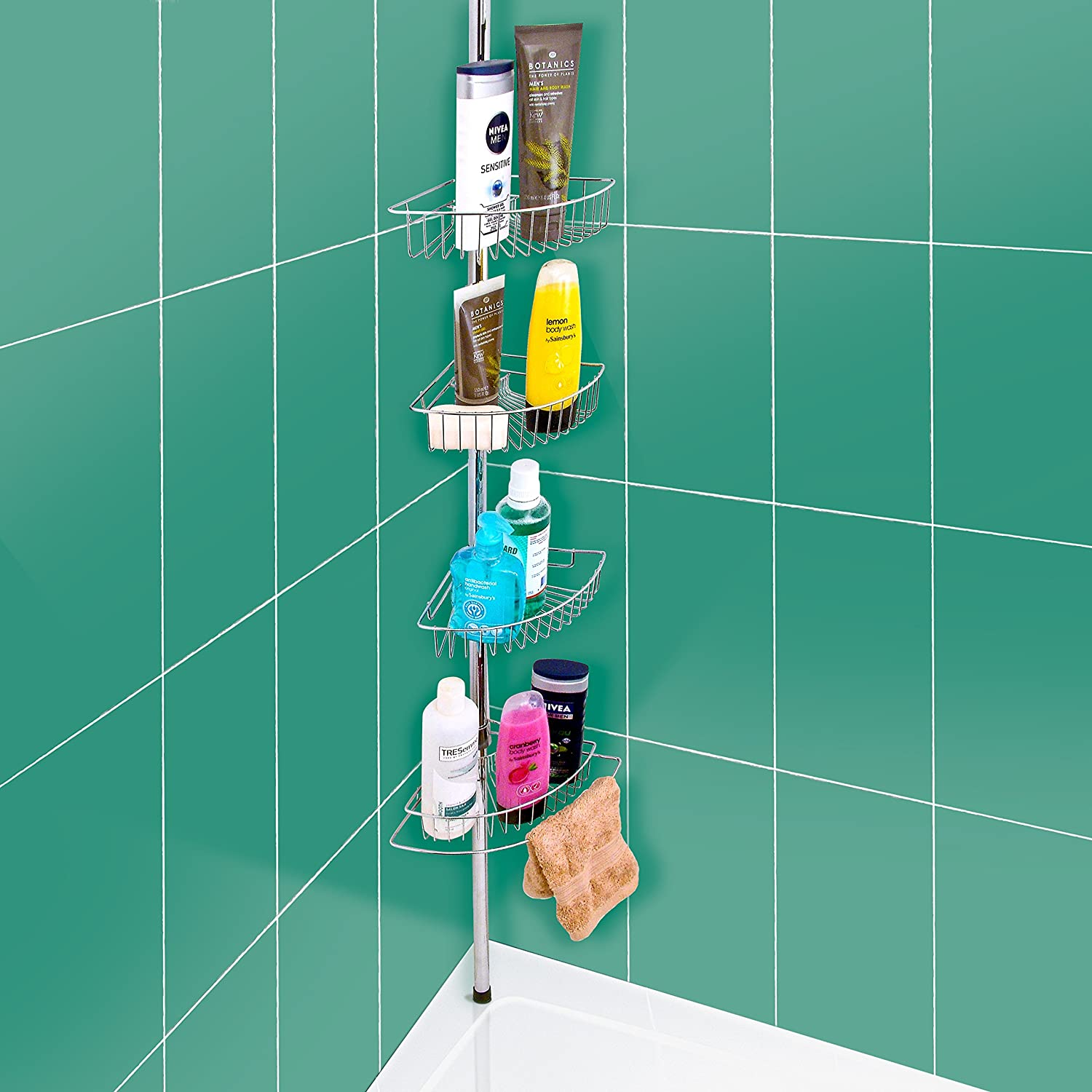 Shower Caddy/ 4 Tier Bathroom Shelf Units/ Tidy Storage: Amazon.co ...
