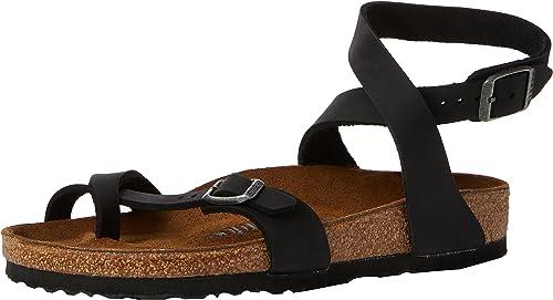 Cheap Black Birkenstock Yara Sandals Sale Comfortable Flat