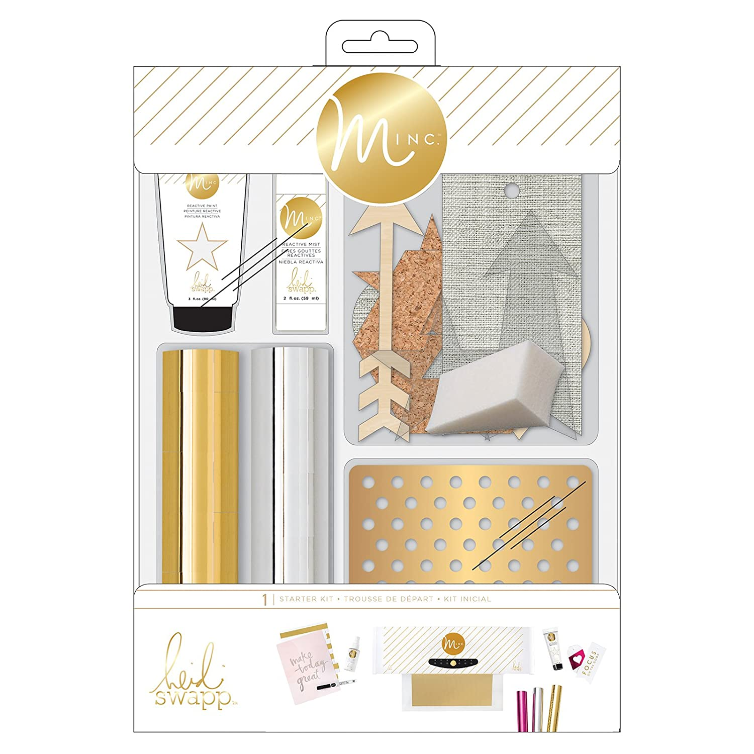 Heidi Swapp Minc Starter Kit Gold Foil 15 Pieces American Crafts 312998