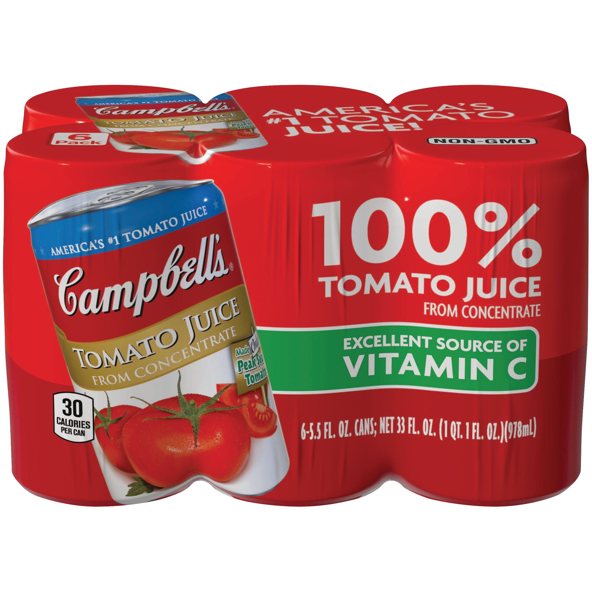 Amazon.com : Campbell's Tomato Juice, 5.5 oz., 48 Count : Grocery & Gourmet  Food