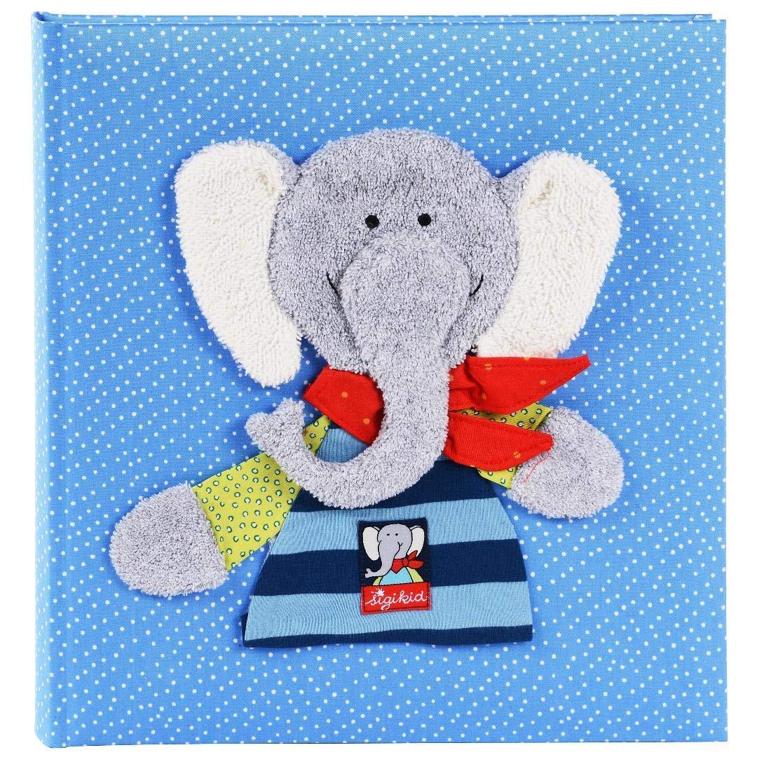 Goldbuch Babyalbum, Bungee Bunny, 30 x 31 cm, 60 weiße Blankoseiten mit 4 illustrierten Seiten und Pergamin-Trennblättern, Leinen mit Applikation, Pink, 15591 15 591
