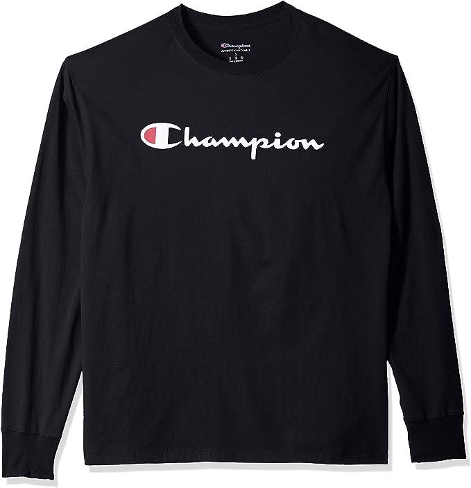 Champion Men's Classic Jersey Long Sleeve Black 이미지 검색결과