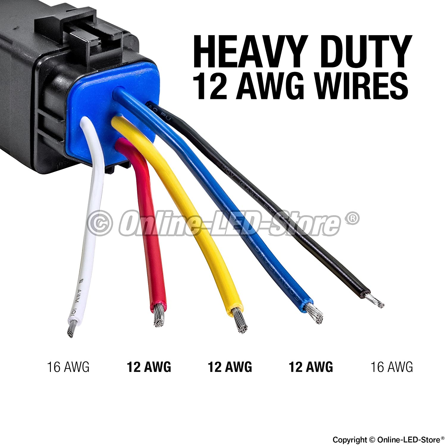 81s06fCNHoL._SL1500_ amazon com ols 40 30 amp waterproof relay switch harness set Wiring Harness Diagram at panicattacktreatment.co