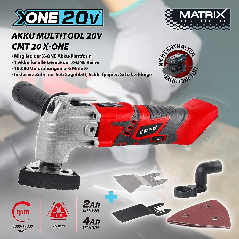 MATRIX Akku Multitool 20V CMT X-ONE Multifunktionswerkzeug inkl Zubehör
