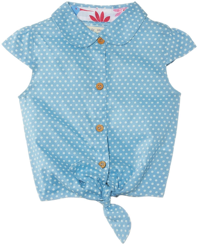 Kite Girls Tie Front Spotty Polka Dot Short Sleeve Blouse