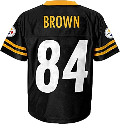 Outerstuff Antonio Brown Pittsburgh Steelers #84 Black Toddler Home Mid Tier Jersey