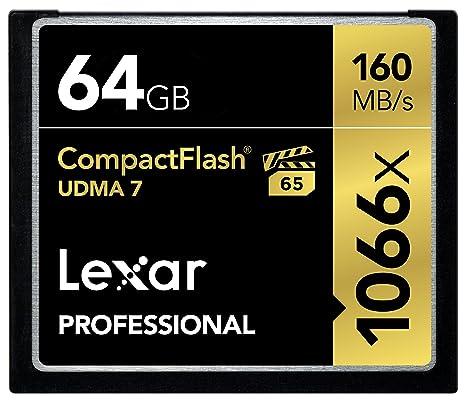 Lexar Professional - Tarjeta de memoria CompactFlash 1066x de 64 ...