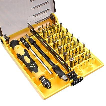 TORX Herramienta 45en1 Destornillador con 45 Puntas Intercambiables para PC Notebook 6089C