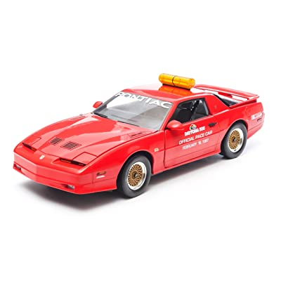GreenLight 1987 Daytona 500 Pace Car Pontiac Trans Am Diecast Vehicle, Red, Scale 1:18: Toys & Games