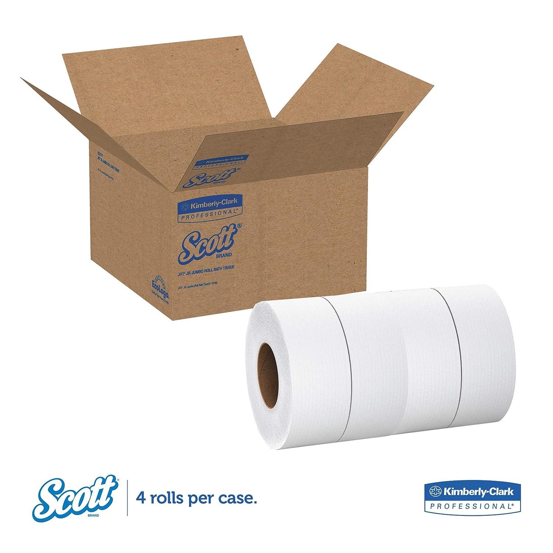 New Scott 1000 Jumbo Roll JR 4 rolls Commercial Toilet Paper 03148 2-PLY