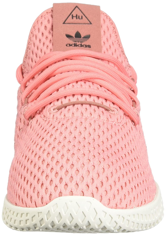 adidas x Pharrell Williams Big Kids Tennis HU J Pink Tactile Rose Footwear White Size 4.0 US