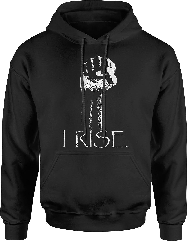 FerociTees I Rise Quote African-American Pride Fist Crewneck Sweatshirt