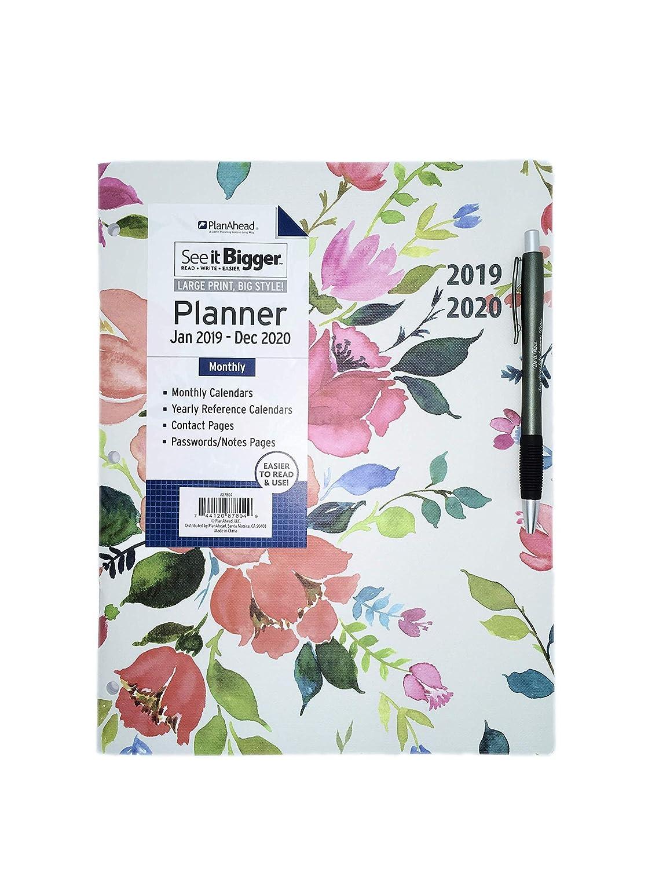 December Calendar 2020 Santa Amazon.: PlanAhead Home/Office 2 Year Monthly Planner, January