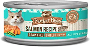 Merrick Purrfect Bistro Grain Free Wet Cat Food Grilled Salmon & Vegetables (24) 5.5oz cans