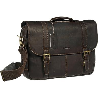 Amazon.com   Samsonite Colombian Leather Flap-Over Laptop ...