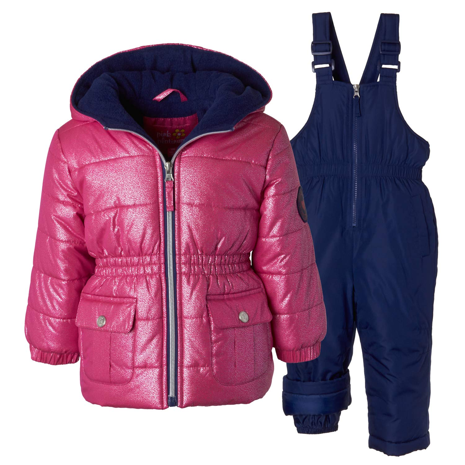8f2b6cb37a70 Amazon.com  Pink Platinum Snowsuits for Girls