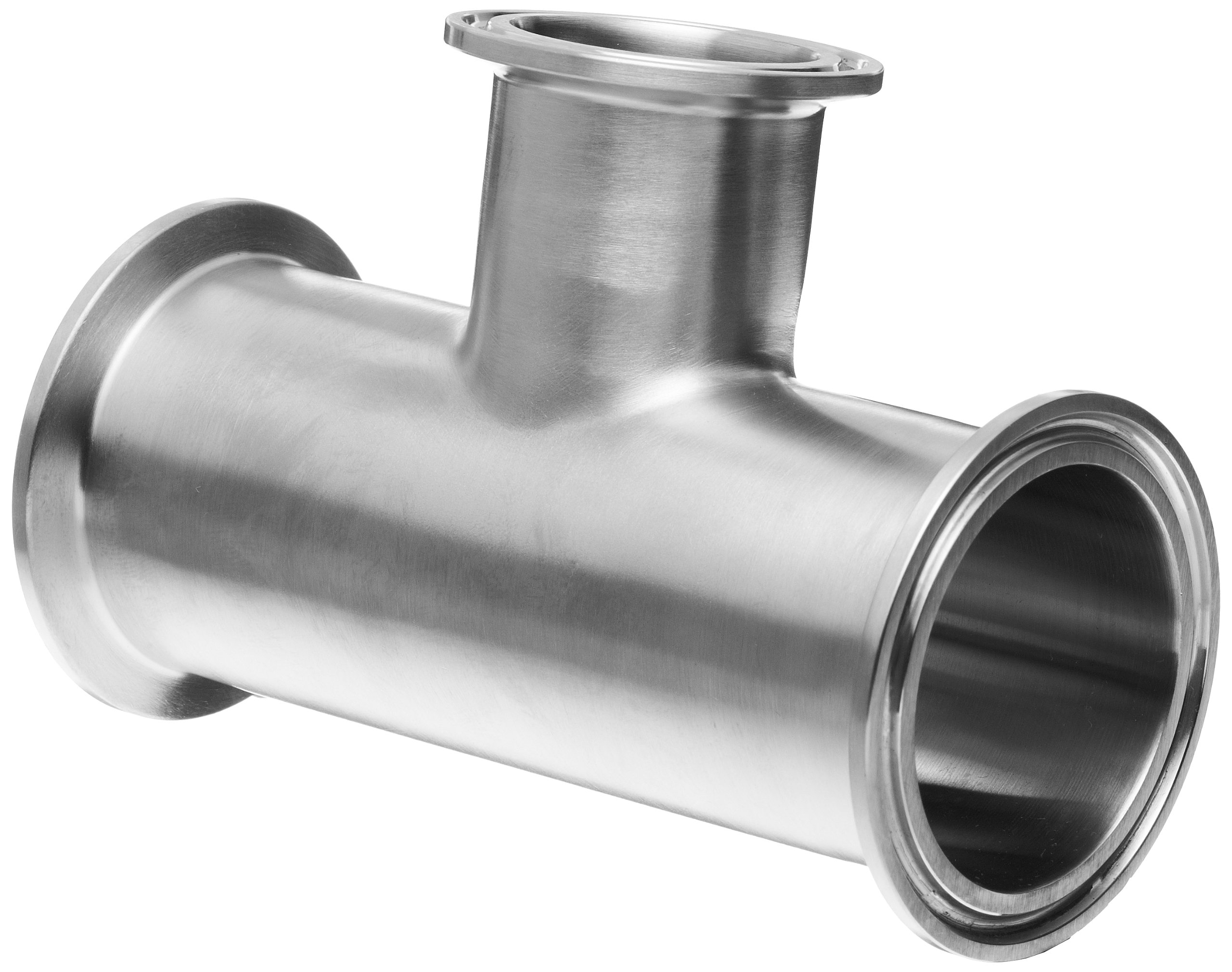 Dixon B7RMP-G200150 Stainless Steel 304 Sanitary Fitting, Reducing Clamp Tee, 2'' Tube OD x 2'' Tube OD x 1-1/2'' Tube OD