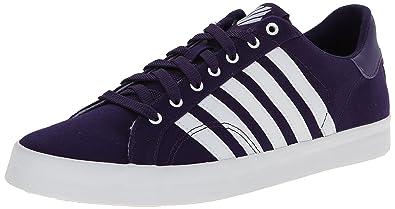823be7d6468b03 K-Swiss Women s Belmont Stitched On Textile Fashion Sneaker