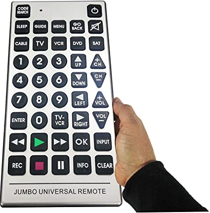 amazon com boostwaves universal jumbo remote control tv dvd cable rh amazon com Jumbo Universal Remote Manual Tie Jumbo Universal Remote Manual Tie