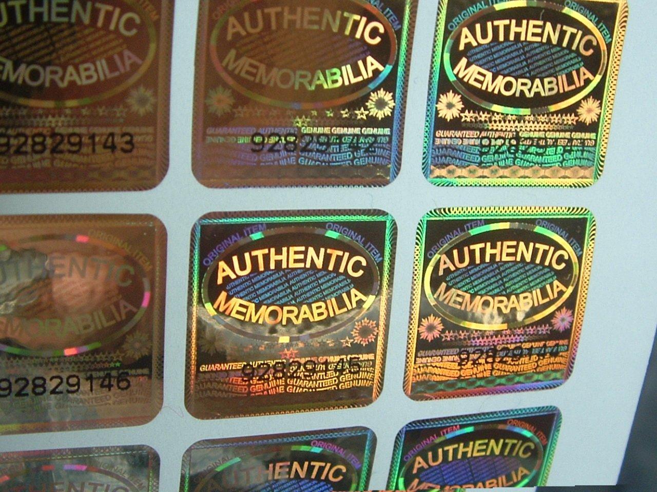 1000 Memorabilia específicos con precinto dorado holograma seguridad etiquetas serie con número de serie etiquetas único por etiqueta 540ff9