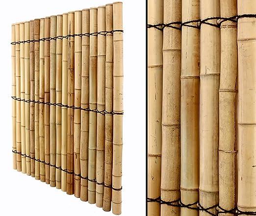 Bambú pared con tubos gruesos 150 x 120 cm Pedidos en línea para ventana pared Visión Protección para jardín Terraza – Sol y viento: Amazon.es: Jardín