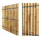 Bambus Zaun Apas 14 180x90cm Schwarz Braun Halbschalen 5 Bis 6cm