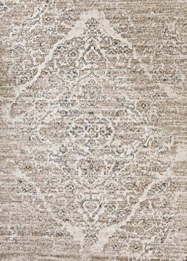 Persian-Rugs 8×10 4620 Distressed Beige 7'10×10'6 Area Rug Carpet Large New