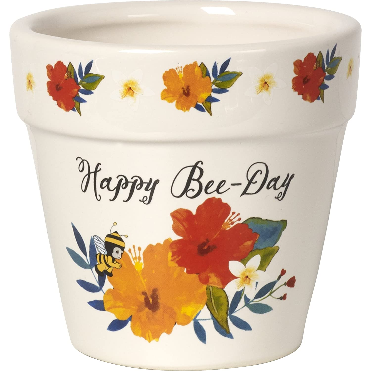 Precious Moments Happy Bee-Day Flower Pot