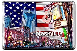 GIFTSCITY E250 NASHVILLE FRIDGE MAGNET USA TRAVEL PHOTO REFRIGERATOR MAGNET