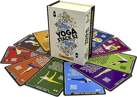 Stack 52 Yoga tarjetas de ejercicio: Amazon.es: Deportes y aire libre