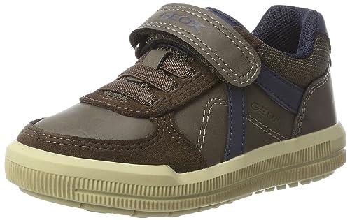 Geox J Arzach E, Zapatillas para Niños, Marrón (Brown/Navy), 35 EU