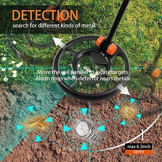Amazon.com : VIVOHOME High Accuracy Underground Handheld Metal Detector Battery Operated with Carry Bag for Adults and Kids : Garden & Outdoor