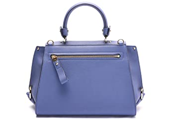 aa47927a6220 Salvatore Ferragamo Sofia Leather Satchel Handbag 21 E530 22 Blue   Amazon.de  Bekleidung