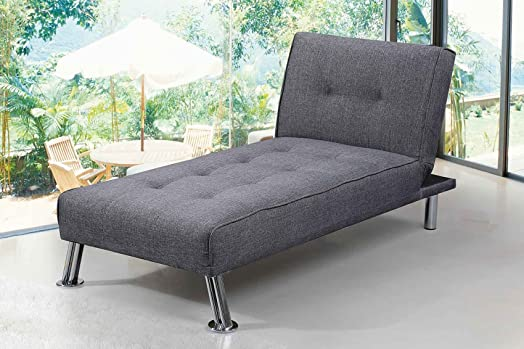New York Fabric Chaise Longue 1 Seater Sofa Bed by Sleep Design
