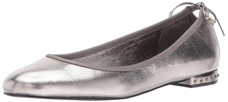 Adrianna Papell Women's Brianne Ballet Flat B06Y27ZFXT 7 B(M) US|Gunmetal Spiga Leather